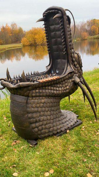 Кованый мангал Дракон
